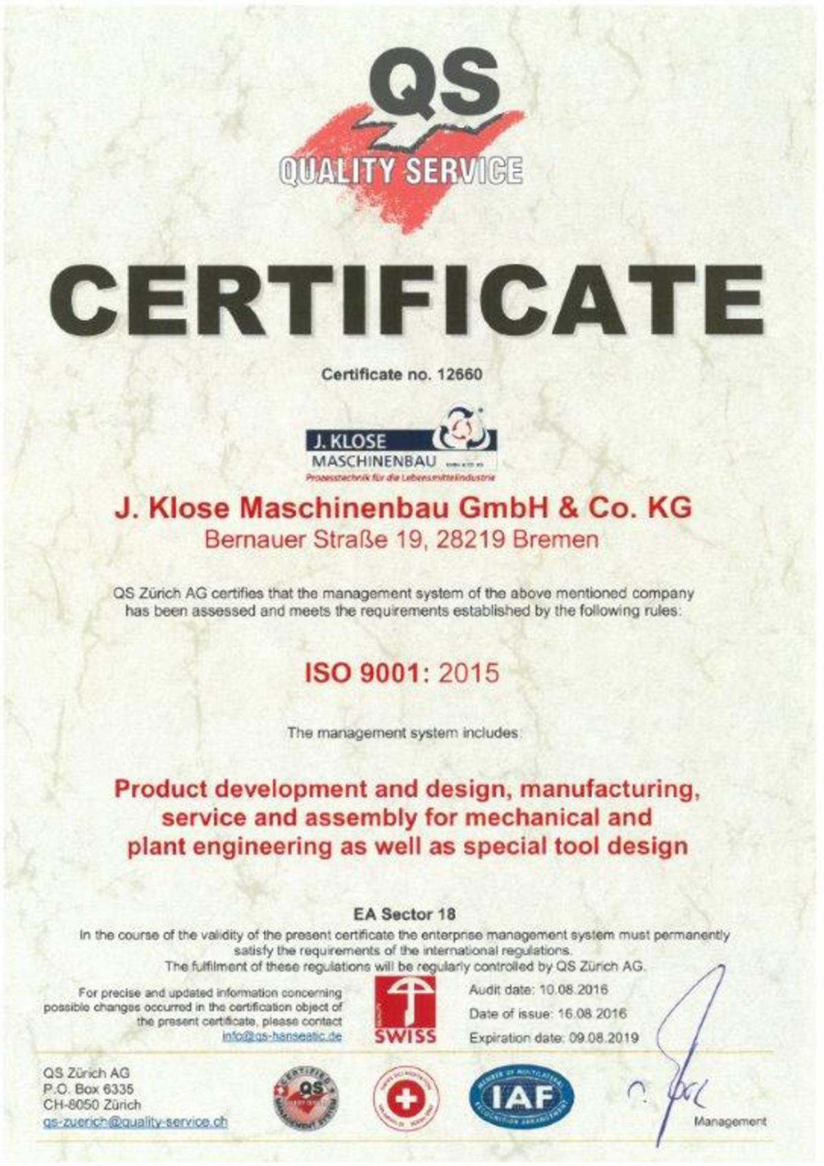 Dorable Quality Management Certification Elaboración - Certificado ...